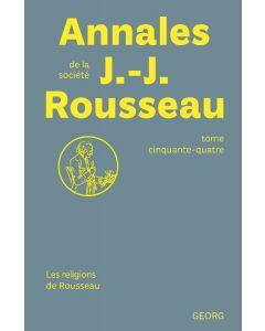 ABONNEMENT ANNALES DE LA SOCIETE JEAN-JACQUES ROUSSEAU