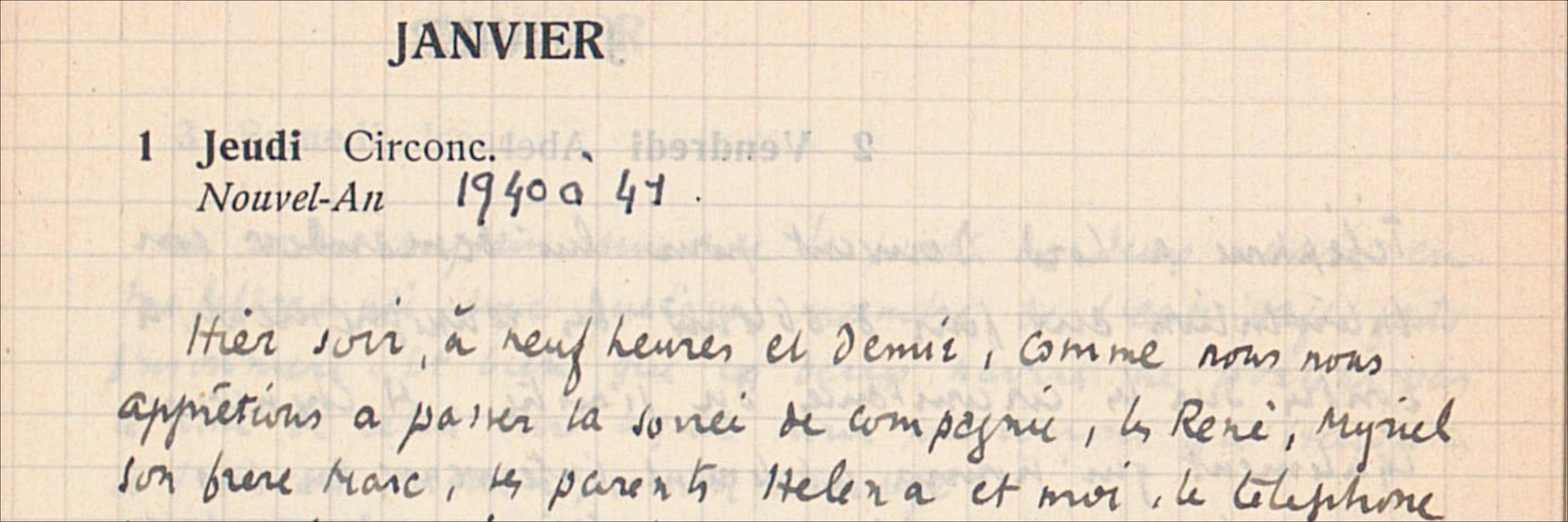 Carnets d'un voyageur traqué (1942-1944)